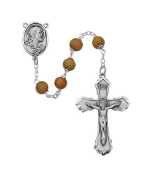 Olive Wood Rosary Boxed