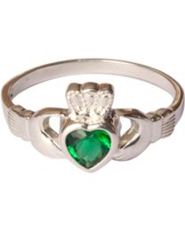 Sterling Silver Claddagh Ring  - Size 9