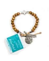 Rooted in Faith Bracelet - Archangel Michael / Silver-Tone (Protection)