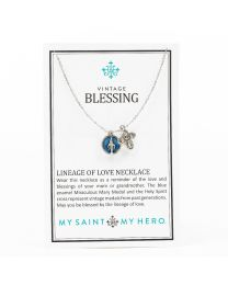 Vintage Blessing Lineage of Love Necklace My Saint My Hero