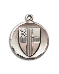 Sterling Silver Episcopal Pendant with Sterling Silver Lite Curb Chain