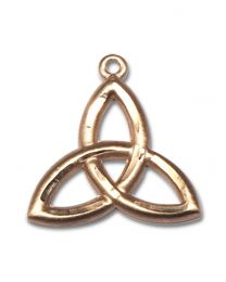 14kt Gold Filled Trinity Irish Knot Pendant with 18 inch Gold Filled Curb Chain