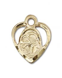 14kt Gold Filled St. Anthony of Padua Pendant with Gold Filled Lite Curb Chain