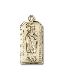 14kt Gold Filled St. Patrick Pendant with Gold Filled Lite Curb Chain