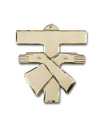 14kt Gold Franciscan Cross Medal