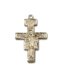 14kt Gold San Damiano Crucifix Medal