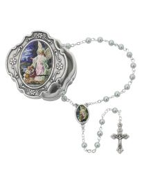 Guardian Angel Box and Blue Rosary