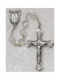 Crystal Tin Cut Rosary Boxed