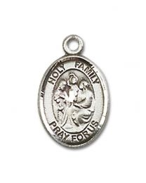 Sterling Silver Holy Family Pendant with Sterling Silver Lite Curb Chain
