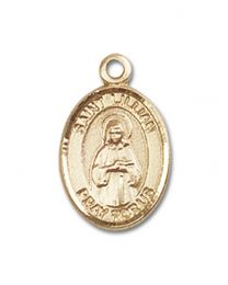 14kt Gold Filled St. Lillian Pendant with Gold Filled Lite Curb Chain