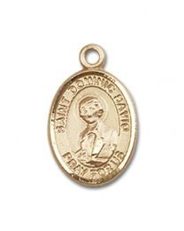 14kt Gold Filled St. Dominic Savio Pendant with Gold Filled Lite Curb Chain