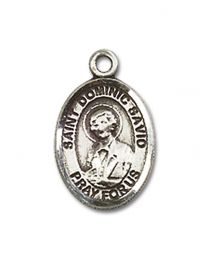Sterling Silver St. Dominic Savio Pendant with Sterling Silver Lite Curb Chain