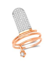 Genuine Round Diamond Ring in 14k Rose Gold - Size 7.00