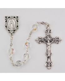 Aurora Glass April Rosary Boxed