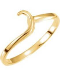 14k Yellow Gold Band - Size 6.75