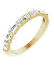 Red Diamond 14k Yellow Gold 1/2 CTW Diamond Anniversary Band - Size 7