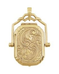 14k Yellow Gold Swivel Locket