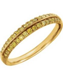 Knife-Edge Anniversary Band in 14k Yellow Gold - Size 7
