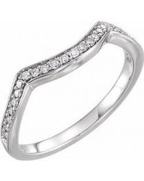 14k White Gold 1/6 CTW Diamond Band - Size 7