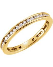 14k Yellow Gold 3/8 CTW Diamond Stackable Ring - Size 7