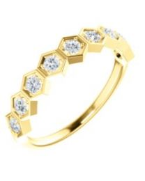 14k Yellow Gold 1/3 CTW Diamond Stackable Ring - Size 7