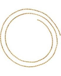 14k Yellow Gold 1.6mm Diamond-Cut Rope 16' Chain with Lobster Clasp