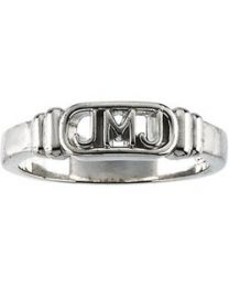 Sterling Silver Jesus; Mary and Joseph Ring Ladies - Size 8