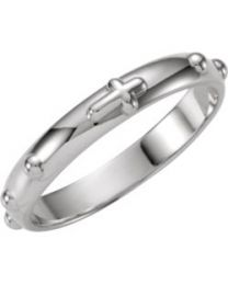 Sterling Silver Rosary Ring - Size 8