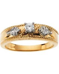 R16652D Ladies Engagement Ring with Diamonds in 14k Yellow Gold