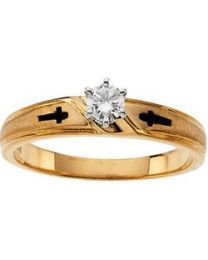 14k Yellow Gold .02 CTW Diamond Ladies Band - Size 6