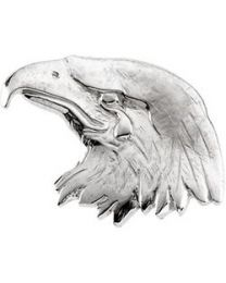 14k White Gold 26x11.5mm Crying Eagle Lapel Pin