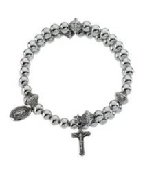 Sterling Silver Bead Wrap Rosary
