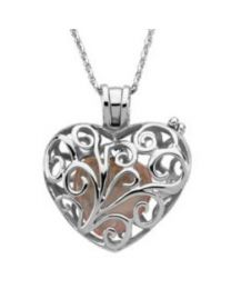 Sterling Silver Always in my Heart Locket Necklace