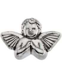 14k White Gold 11x16mm Praying Angel Lapel Pin