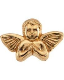 14k Yellow Gold 8x12mm Praying Angel Lapel Pin
