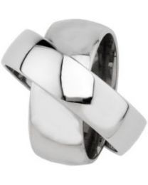 Stainless Steel 6mm & 8mm Rotating Band - Size 9.5 in Stainless Steel