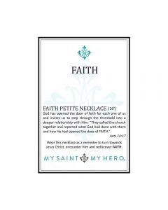 Faith Petite Necklace - Silver-Plated